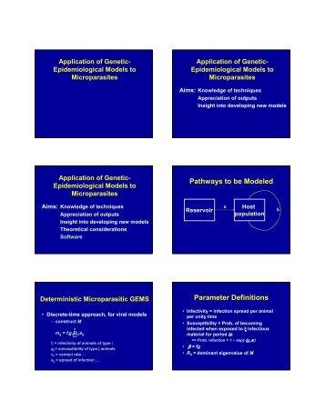 Application of genetic-epidemiological models to ... - eadgene