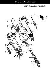 38472 Rotary Tool FBS 115/E - Proxxon Tools