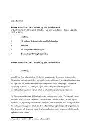 Svensk arbetsrätt i EU - Stockholms universitet