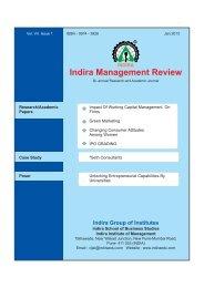 IMR JAN 2013 - Indira Institutes