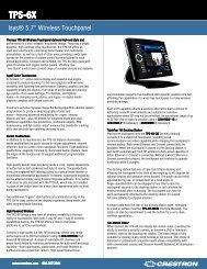 tps-6x spec sheet - DVI Home Theater