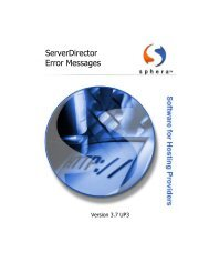 ServerDirector 3.7 Error Messages - KB Parallels