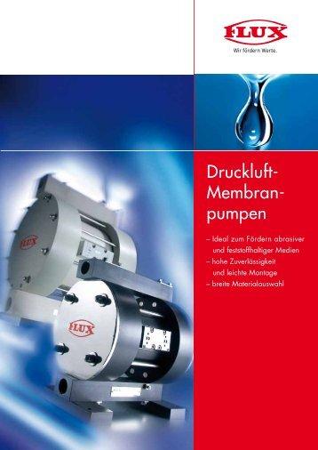 Druckluft- Membran- pumpen
