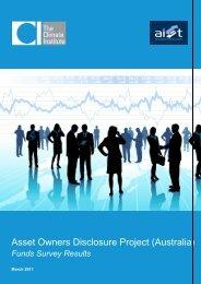 Asset Owners Disclosure Project (Australia) - Australian Institute of ...