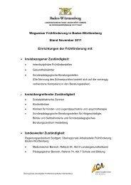 Wegweiser Frühförderung in Baden-Württemberg - RP