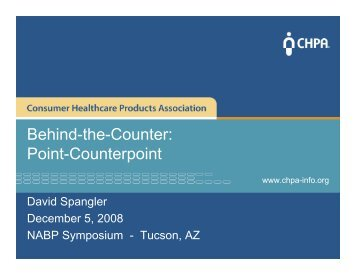 Behind-the-Counter: Point-Counterpoint