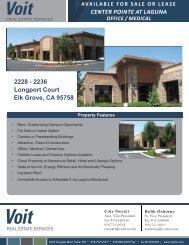 Centerpointe at Laguna Brochure - Voit Real Estate Services