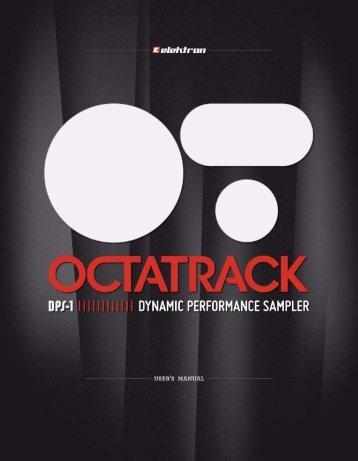 Octatrack Manuel de l'utilisateur - Univers-sons.com