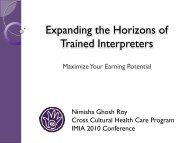 Expanding the Horizons of Trained Interpreters - IMIA
