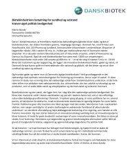 Debatindlæg af Martin Bonde, Altinget Sundhed - Dansk Biotek