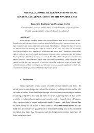 microeconomic determinants of bank lending: an application ... - ALdE