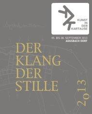 Download Folder 2013 - Kunst in der Kartause