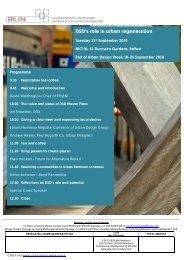 DSD's role in urban regeneration