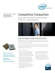Quad-Core Server Processor Comparison - GovConnection