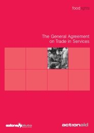 The General Agreement on Trade in Services - ActionAid