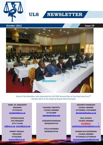 ULS Newsletter Issue 19 - Uganda Law Society