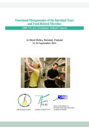 Functional Metagenomics of the Intestinal Tract and ... - Helsinki.fi