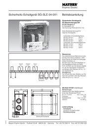 Sicherheits-Schaltgerät SG-SLE 04-0X1 Betriebsanleitung - Mayser ...