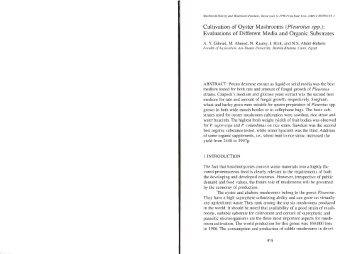 44 Cultivation of Oyster Mushrooms (Pleurotus spp)