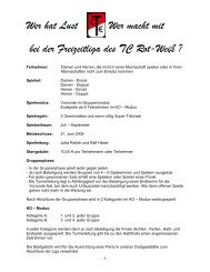 Wer hat Lust - TC Rot-Weiss Erlangen e.V.