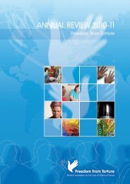 ANNUAL REVIEW 2010-11 - Freedom from Torture