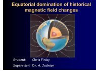 Equatorially dominated historical magnetic field changes