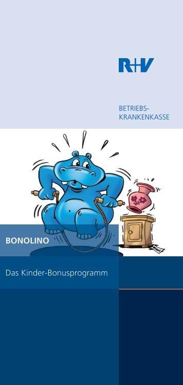 BONOLINO Das Kinder-Bonusprogramm - R+V Betriebskrankenkasse