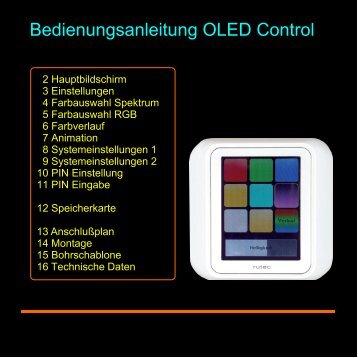 Bedienungsanleitung OLED Control - Rutec