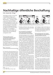 Beschaffungsmanagement 10/2010 - Nachhaltige Beschaffung