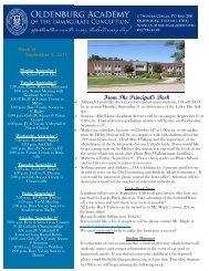 September 5 - Oldenburg Academy