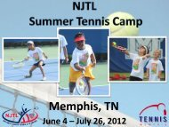 2012 NJTL Tennis Summer Camp Report - Memphis Public Tennis ...