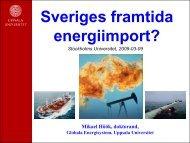 Sveriges framtida energiimport?