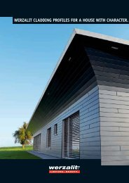werzalit cladding profiles for a house with character. - COM-MET