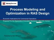 Process Modeling and Optimization in RAS Design - Tides Canada