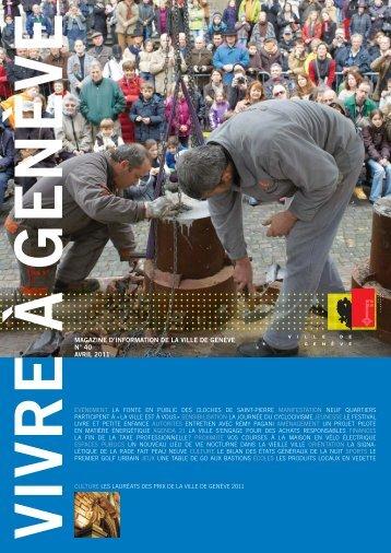 Magazine Vivre à Genève no 40 - Ville de Genève