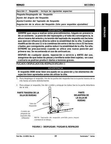 Respaldo / Asiento - Invacare