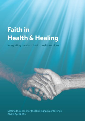 Faith in Health & Healing - Anglican Health Network