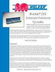 Welker CP2 Constant Pressure Cylinder - Watergas