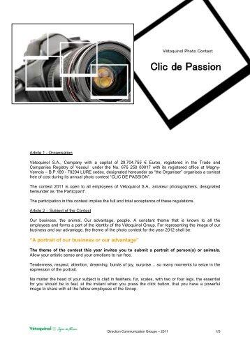 Clic de Passion - Vétoquinol