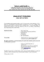 ZNALECKÝ POSUDEK číslo: 4071-217/2012 - OKdrazby.cz