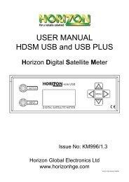 HDSM USB-USB Plus - Horizon Global Electronics Ltd - signal ...