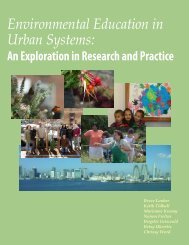 Environmental Education in Urban Systems: - Department of Natural ...