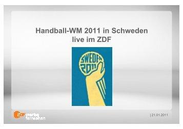 110121_Angebot Handball WM Hauptrunde 2011 - ZDF ...