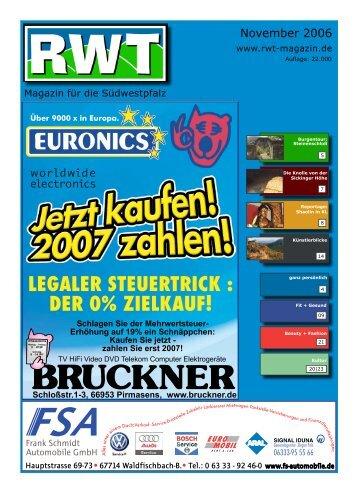 November 2006 - RWT - Magazin für die Südwestpfalz