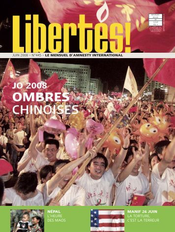 OMBRES CHINOISES - AMNESTY INTERNATIONAL.be