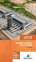 Power Plants Solutions 2013 - Wärtsilä