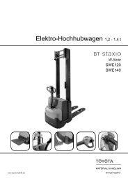 Elektro-Hochhubwagen Staxio SWE120 140 - Toyota Material ...