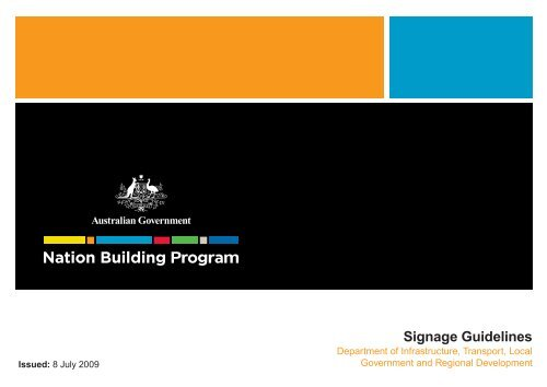 Federal Nation Building Program Signage Guidelines ... - Transport