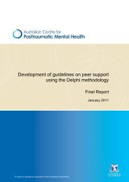 Development of guidelines on peer support using the Delphi ... - ukpts