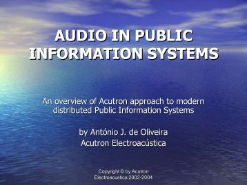 Audio in Public Information Systems - Acutron